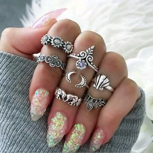 Jewelry - 🔥7 piece Retro Rings/ knuckle rings